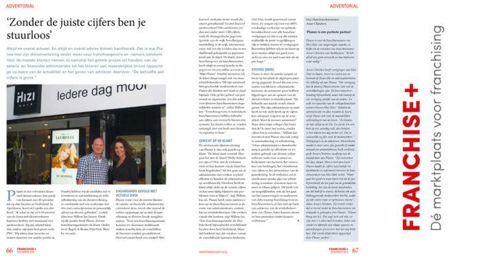 Deze maand staat Planee in het magazine van FranchisePlus